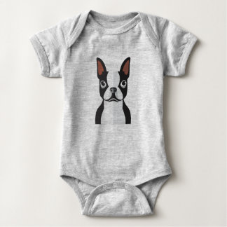 Body Combinaison de Boston Terrier Jersey de bébé