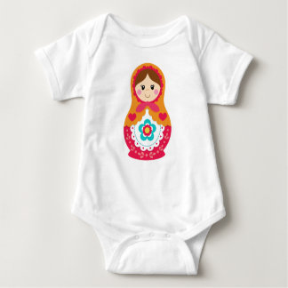 Body Combinaison de Matryoshka - rouge et orange