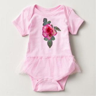 Body Combinaison de tutu de bébé de rose de blanc et de