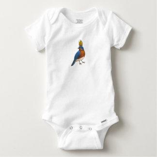 Body combinaison d'oiseau bleu et de cosse