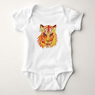 Body Combinaison du Jersey de bébé de dessin de tigre,
