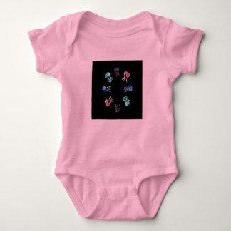 Body Combinaison du Jersey de bébé de méduses