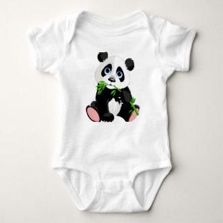 Body Combinaison du Jersey de bébé imprimée par panda