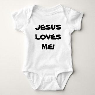 Body Combinaison du Jersey de bébé - lettrage noir