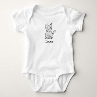 Body Combinaison grise du Jersey de bébé de chat de