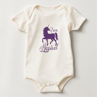 Body combinaison magique de licorne de 12 mois