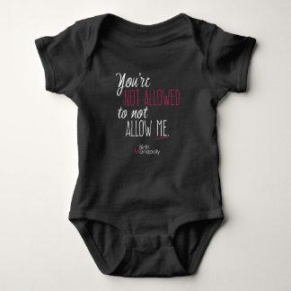 """Body Combinaison non permise de bébé """""""" (+couleurs"""
