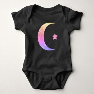 Body Combinaison organique de bébé de croissant de lune