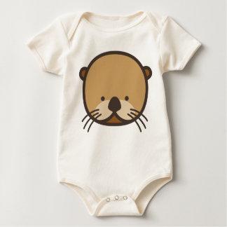 Body Combinaison organique de bébé de loutre de WeeOnez