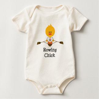 Body Combinaison organique de bébé de poussin d'aviron