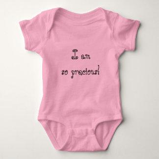 Body Combinaison rose de bébé je suis si précieux