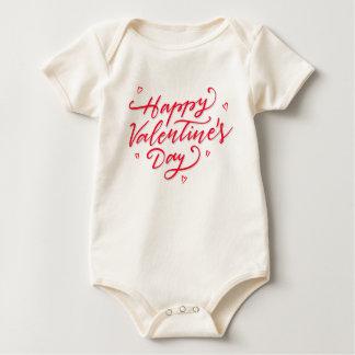 Body Combinaison rose de la heureuse Sainte-Valentin  