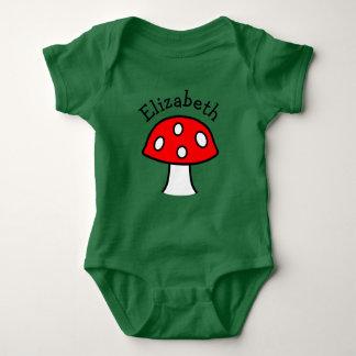 Body Combinaison rouge de bébé de champignon