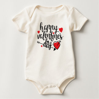 Body Combinaison simple de heureuse Sainte-Valentin