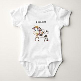 Body Combinaison suisse du Jersey de bébé de vache