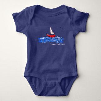 Body Combinaison vivante de bébé de mouettes de bateau