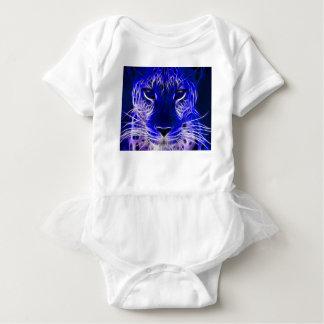 Body conception bleue de fractale de guépard