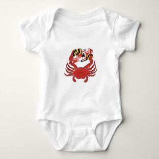 Body Conception de crabe et de drapeau du Maryland