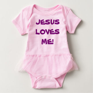 Body Costume de corps de tutu de bébé - Jésus m'aime