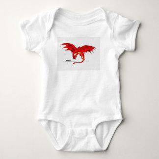 Body Costume rouge de corps de bébé de dragon