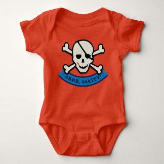 Body Crâne - combinaison orange du Jersey de bébé