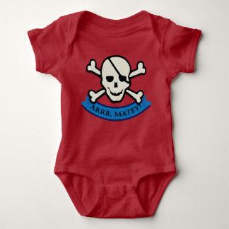 Body Crâne - combinaison rouge du Jersey de bébé