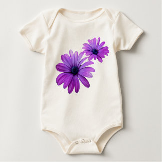 Body Dessus pourpre organique de bébé de fleur de