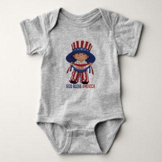 """Body Dieu combinaison de bébé bénissent Amérique """""""
