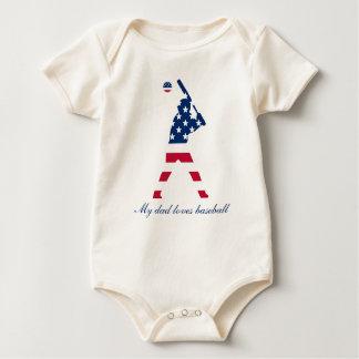 Body Drapeau d'Américain de base-ball de l'Amérique