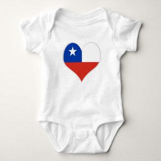 Body Drapeau de coeur du Chili