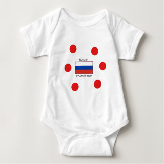 Body Drapeau de la Russie et conception de langue russe