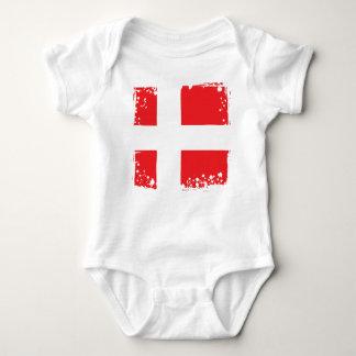 Body Drapeau du Danemark, tissu frais de bébé du danois