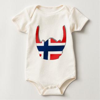Body Drapeau norvégien de casque de la Norvège Viking