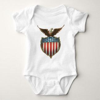 Body Eagle patriotique et chauve vintage avec le