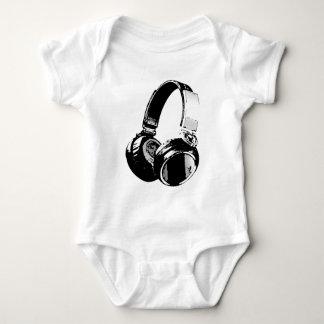 Body Écouteur noir et blanc d'art de bruit