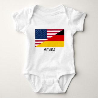 Body Emma, drapeau allemand-américain
