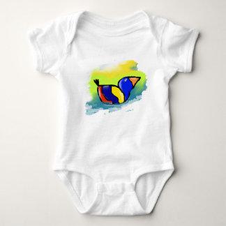 """Body en jersey pour bébé, Blanc, motif """"Canard"""""""