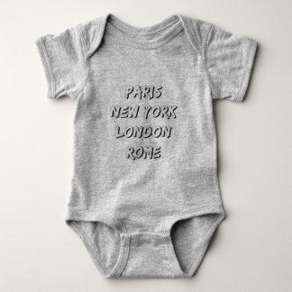 Body en jersey pour bébé, PARIS NYC LONDON ROME