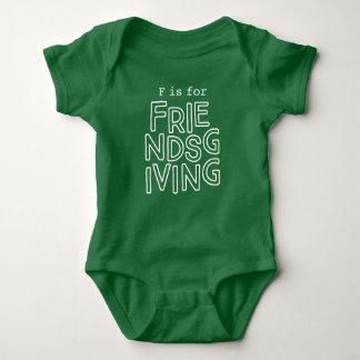 """Body Équipement pour Friendsgiving de bébé """"F est"""""""