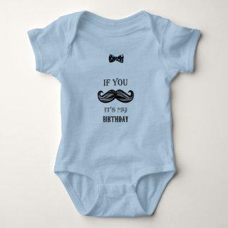 Body ęr anniversaire - moustache - petit homme - bébé