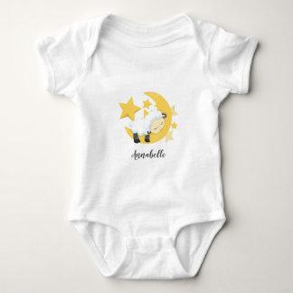 Body Étoiles de lune et monogramme célestes de bébé