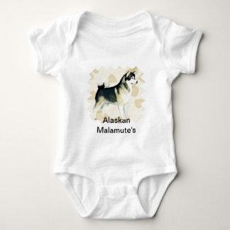 Body Feuille Motiff de Tan de ~ de Malamute d'Alaska