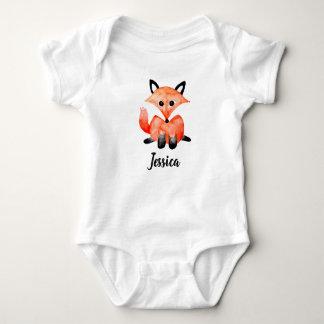 Body Fox de faune de région boisée d'aquarelle de bébé