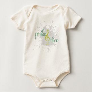 Body Gilet chrétien organique de bébé - félicitez-le