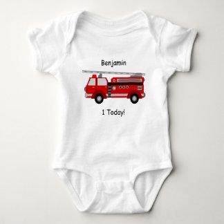 """Body Gilet de bébé de camion de pompiers """"1"""