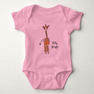 Body Girafe de bébé - rose