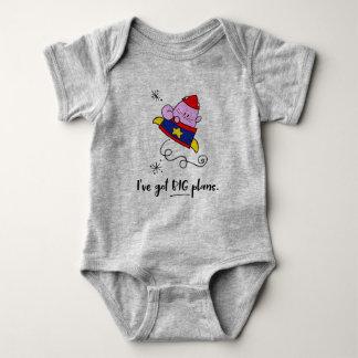 Body Grande chemise de bébé de chat d'astronaute de