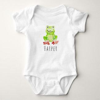 Body Grenouille unisexe de jungle d'aquarelle de bébé