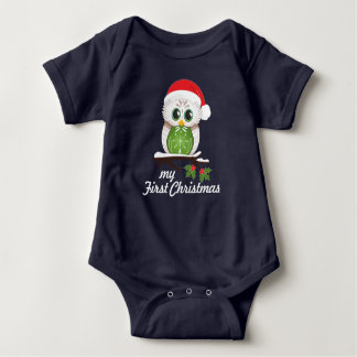 Body Hibou de Noël - premier Noël