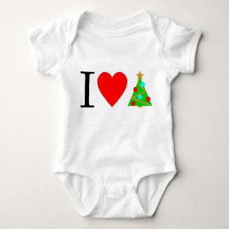 Body I costume de bébé d'arbre de Noël de coeur